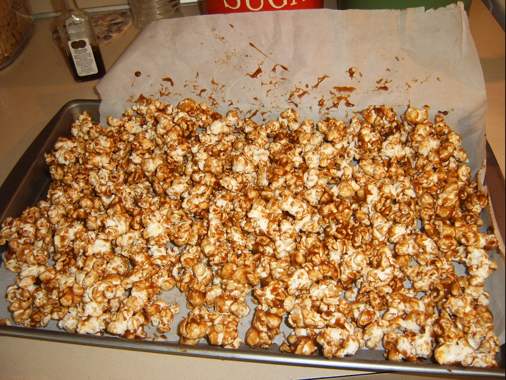 First batch of Caramel Popcorn